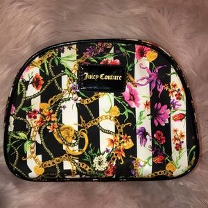 Juicy couture bag makeup cosmetic pouch zipper